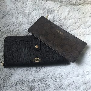 Coach Black Multifunction Wallet Removable Insert